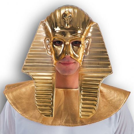 Mask Face Golden Pharaoh Egyptian Ruler Leader King